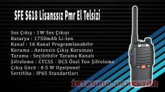 SFE S618 Lisanssız Pmr El Telsizi