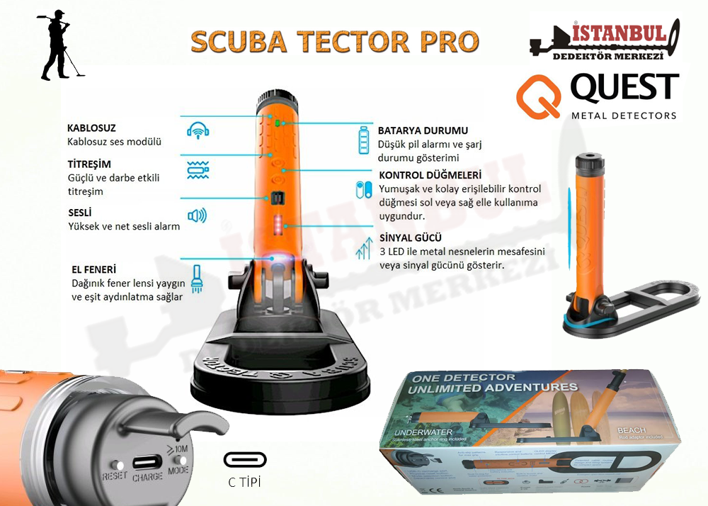 Scuba Tector Pro Dedektör